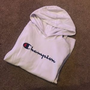 White champion sweater